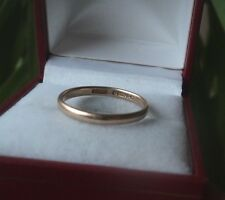 Vintage 9ct Rose Gold Wedding Band Ring h/m 1927 London  -  size N to size O