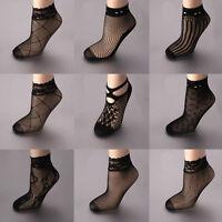 Women's Sexy Fishnet Mesh Ankle Socks/Pop Socks With Lace Trim Regular Gift