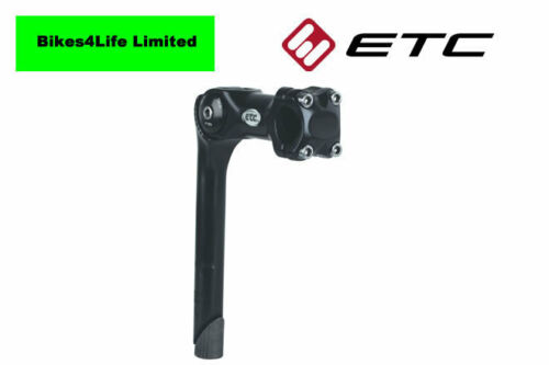ETC Adjustable Quill Riser Bicycle Handlebar Stem 25.4mm with 110mm Reach Black