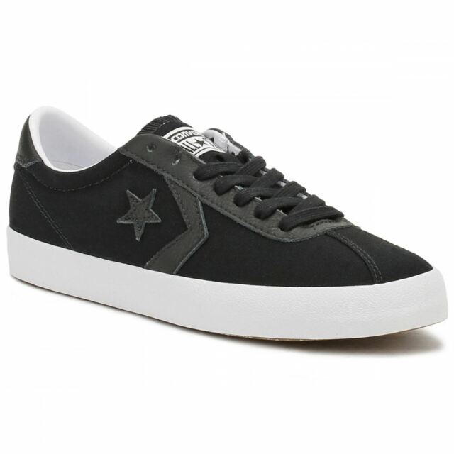 eead2008aca398 Converse Breakpoint Ox Black White Mens Canvas Low-top Trainers UK ...