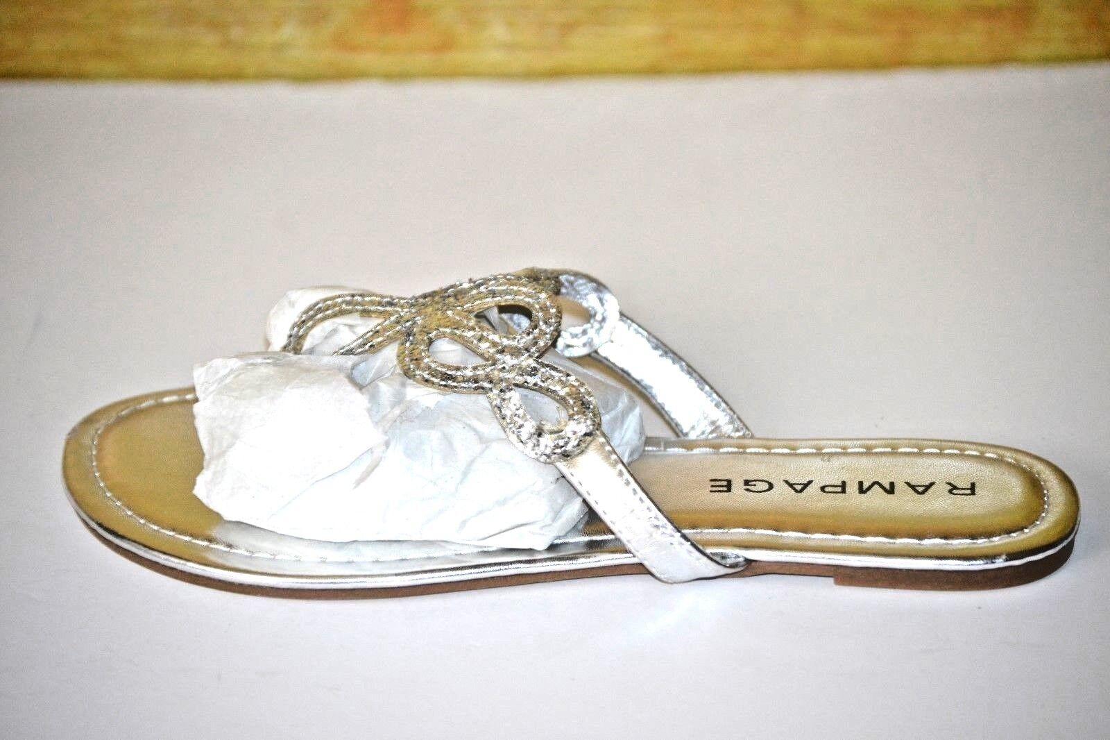 Rampage Sandals Triton Womens Silver Thongs Sandals Rampage Shoes  Sz 6.5 e39e38