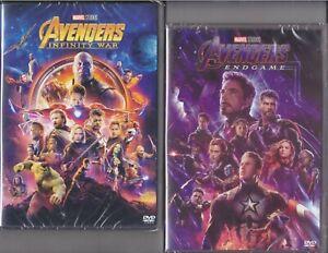 2-Dvd-Marvel-AVENGERS-INFINITY-WAR-ENDGAME-Thor-Iron-Man-Hulk-Captain-America