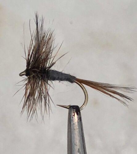 THE ADAMS 6 X SIZE #12 FLIES DRY FLY FISHING FLIES