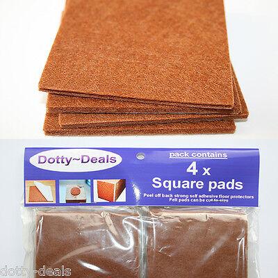 Oak Wood Protection Laminate Floor Furniture Protectors Felt Pads Vinyl x 4