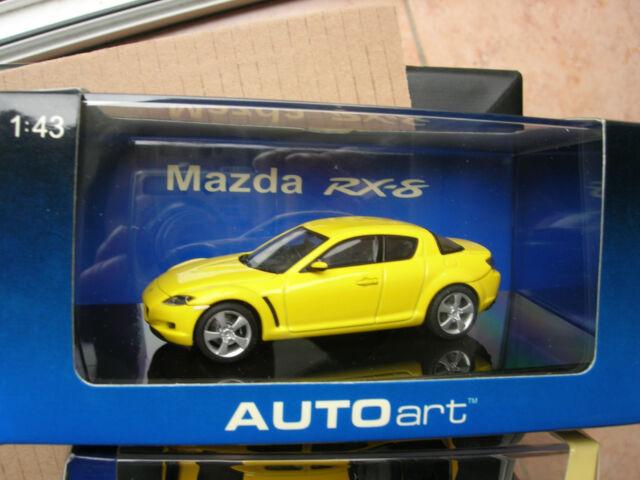 AUTOart 1/43 MAZDA RX-8 JAUNE FLASH!!