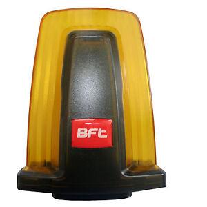 Clignotant bft 230 v avec int gr antenne jaune portail coulissant porte ebay - Portail coulissant avec porte integree ...