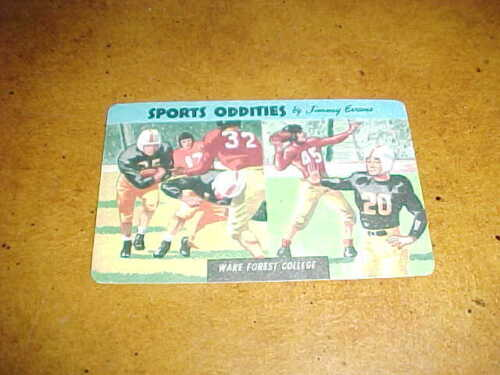 1954 Wake Forest Quaker Puffed Wheat Sports Oddities Football Card