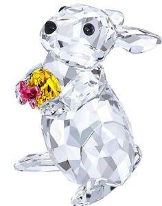 NIB-159-Swarovski-Crystal-Figurine-Rabbit-With-Easter-Egg-Bunny-5274174