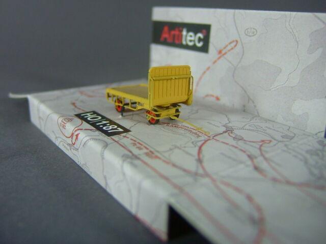 Artitec 387.32-YW Anhänger für Bahnsteigkarre / gelb / 1:87 H0 / Neu & OVP