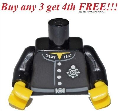 ☀️NEW Lego Torso Minifig BLACK CONSTABLE police london officer minifigure