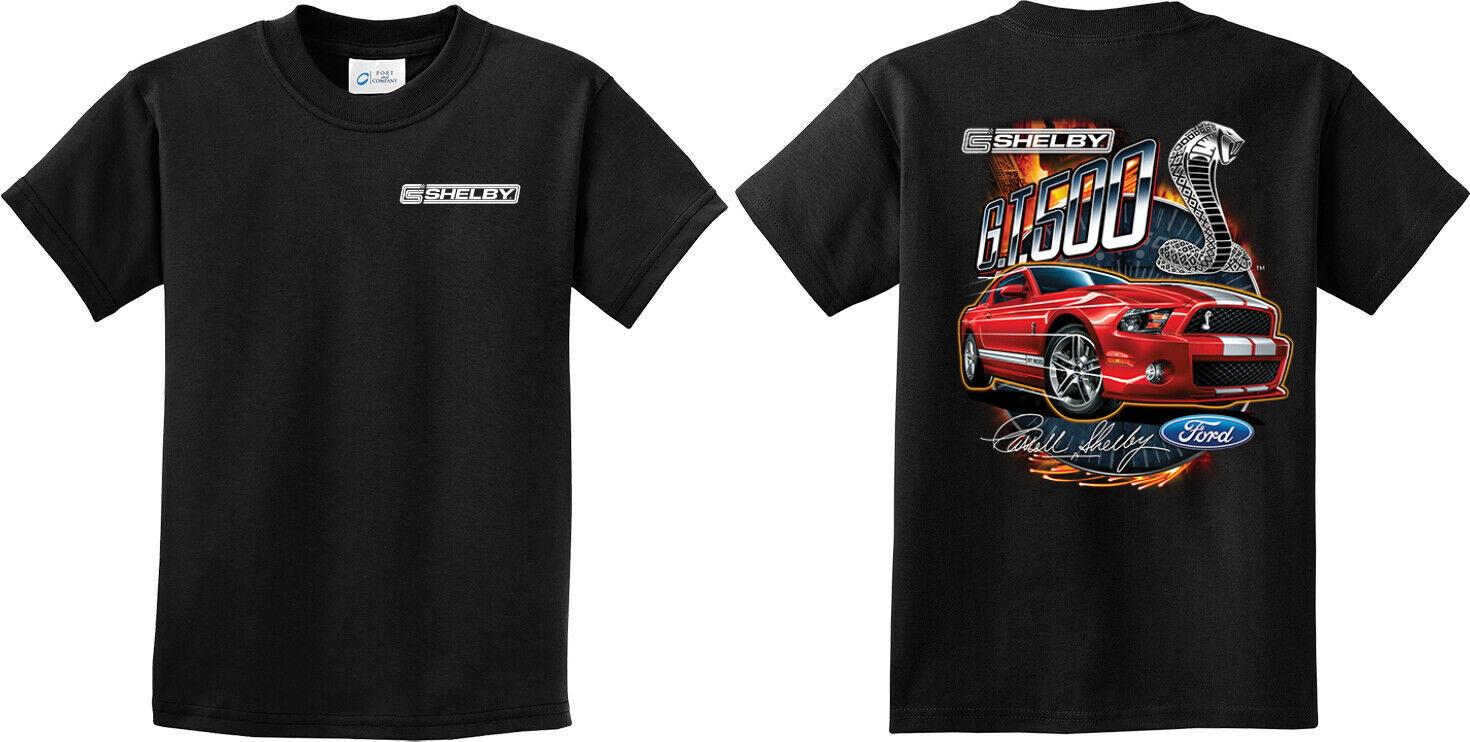 Ford Mustang 2014 Shelby GT500 Cobra Youth T-Shirt American Muscle Car Kids Tee