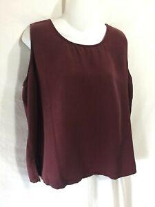 Hot-Cotton-by-Marc-Ware-Burgundy-Tencel-Tunic-Tank-Top-Shirt-Large-L