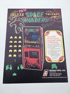 Original Flyer Midway Space Invaders Part 2 Arcade Game Jamma Borne Arcade