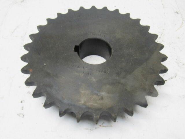 """Roller Chain Sprocket 6SR16 30mm Bore Key /& 2 Grub Screws 3//4/"""" Pitch 16 Tooth"""