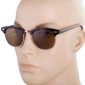 Classic-club-master-POLARIZED-Style-Half-Frame-Sunglasses-Shades-Vintage-G