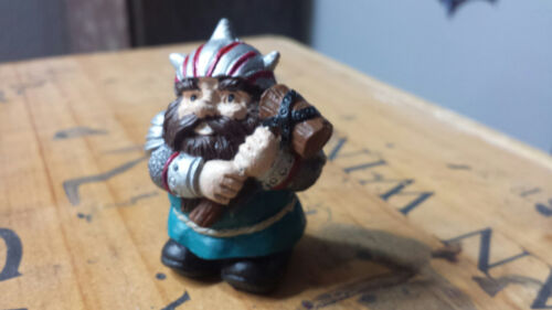 Viking Statue,Mini Garden decor Viking Gnome Statue Fairy d Drawf statue Elf