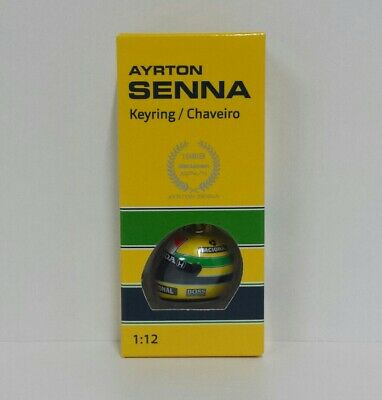 Portachiavi Casco Helmet 3d Ayrton Senna F1 World Champion 1988 Minichamps 1/12