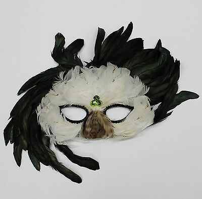 Feather Masquerade Mask, Coxeer Venetian, Mardi Gras Mask  for Halloween ( M33 )