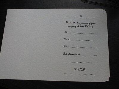 50 IVORY INSERTS FOR HANDMADE WEDDING INVITATIONS