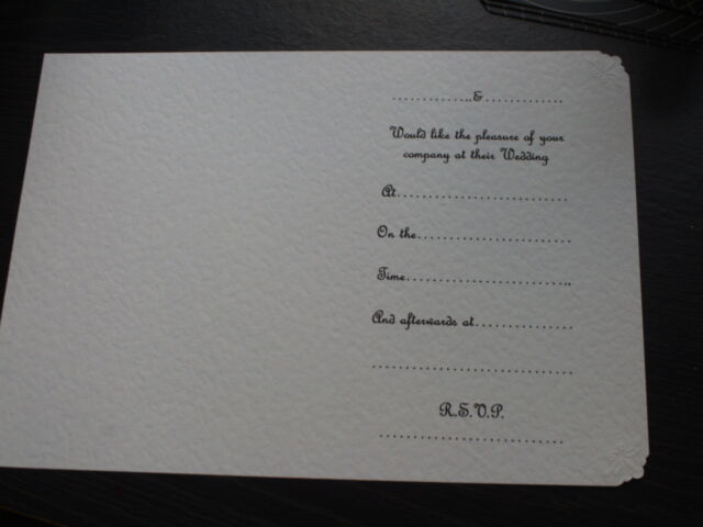 50 IVORY INSERTS FOR HANDMADE WEDDING INVITATIONS