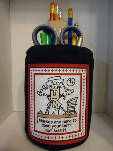 Funny Nurse Fabric Eyeglass Case OR Fabric Pencil Holder Cup Sweet Gift