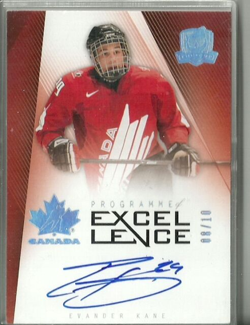 Evander Kane 09/10 UD The Cup Programme Of Excellence ...