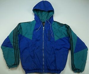 Details about Rare Vintage ADIDAS Spell Out Trefoil Color Block Parka Puffer Jacket 90s Size S