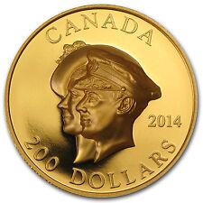 2014 Canada 1 oz Prf Gold 75th Anniv of First Royal Visit (UHR) - SKU #82833