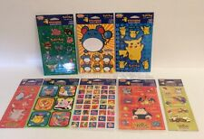 Stickers Pokemon Nintendo Lot 8 Sets 16 Sheets Sticker Time American Greeting