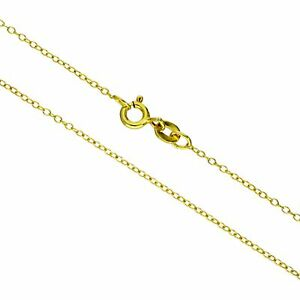 Gold-Plated-Sterling-Silver-Belcher-Chain-Necklace-16-18-20-22-Inches
