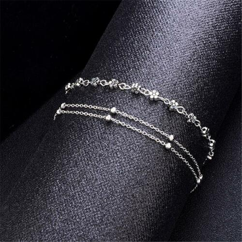 Fashion Ankle Bracelet Lady Silver Anklet Foot Jewelry Chain Beach Accessory YI