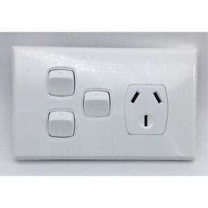 Single-Power-Point-2x-Extra-Switch-SGPO-Electrical-White-single-gpo-power-outlet