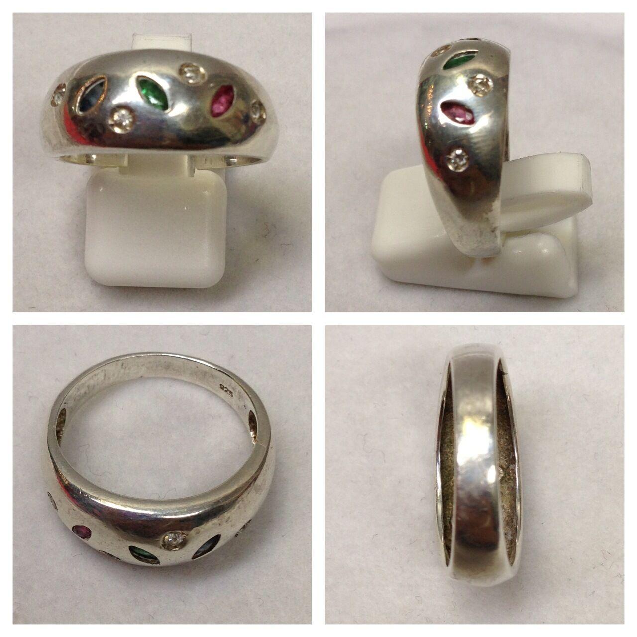 BELLISSIMA Anello 925er silver in pietre di color accessori