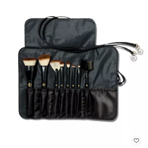 sonia kashuk travel makeup brush set with case  8pc with