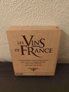 JEU CD-I CDI  LES VINS DE FRANCE - BOITE  EN BOIS  - COMPLET - TRES BON ETAT