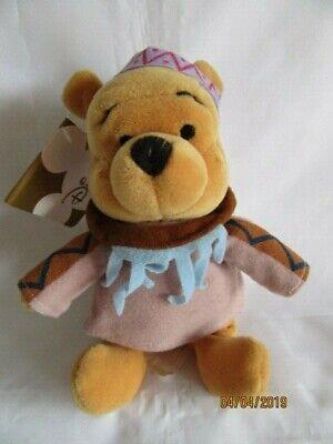 """Imparziale Disney Store - 8"""" Winnie The Pooh-indiano-beanie Peluche Giocattolo Morbido-mostra Il Titolo Originale Belle Arti"""