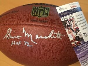 Gino Marchetti signed JSA Certified Autographed Football Inscribed HOF 72