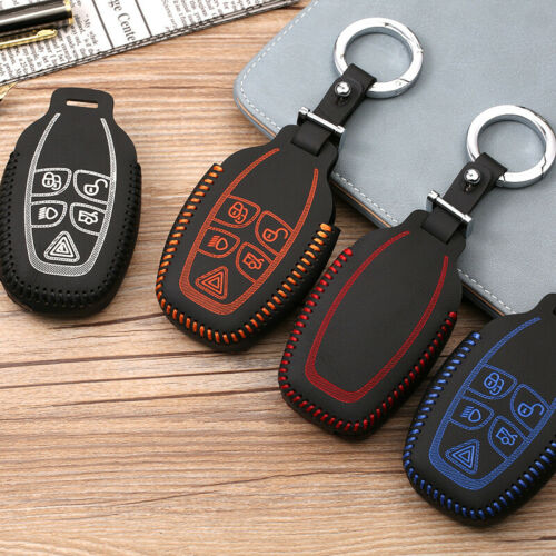 For Jaguar XJ XJL 2012-2013 Car Smart Key Remote Entry Fob Case Cover Chain