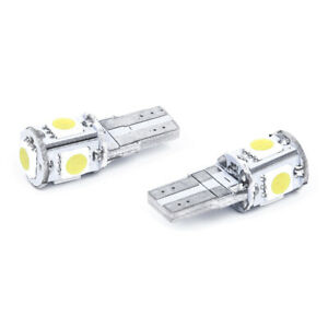 2-x-Bombilla-W5W-T10-5-LED-SMD-blanco-Lampara-luz-de-noche-del-xenon-de-coche-G3