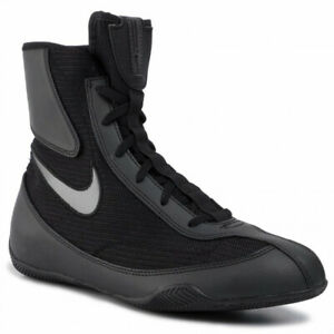 Nike machomai 2 Boxe Bottes cadencé Schuhe Chaussures de boxe ring noir/argent