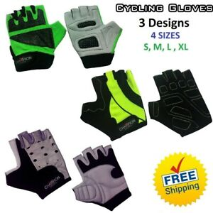 Cycling-Gloves-Bicycle-Bike-Riding-Half-Finger-Unisex-Anti-Skid-Gloves-NEW
