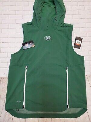 Nike NFL New York Jets Fly Rush Jacket Green White 837113 323 Men's Large L