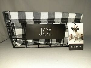 Rae-Dunn-White-and-Black-Buffalo-Plaid-034-JOY-034-Basket