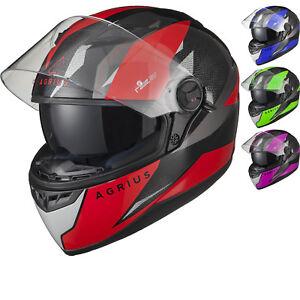 Agrius Rage SV Fusion Motorcycle Helmet XXL Gloss Black//Blue