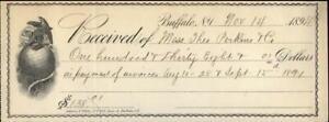1894 Buffalo New York (NY) Receipt Adams and White Miss Theo Perkins