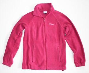 Columbia-Womens-Pink-Full-Zip-Sweater-Fleece-Jacket-Coat-Size-S