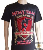 Tee Shirt T-shirt Muay Thai Boxe Thai High Kick Floqué Boxing