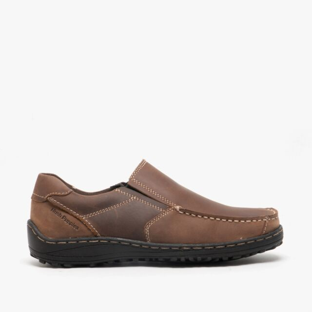 Hush Puppies Belfast Slip On Mt Mens Leather Nubuck Dual Fit Outdoor Shoes Brown Uk 7 For Sale Online Ebay