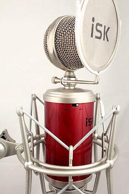 iSK RM-16 Studio Condenser Microphone + Shock Mount/Pop Filter + 6m XLR Cable
