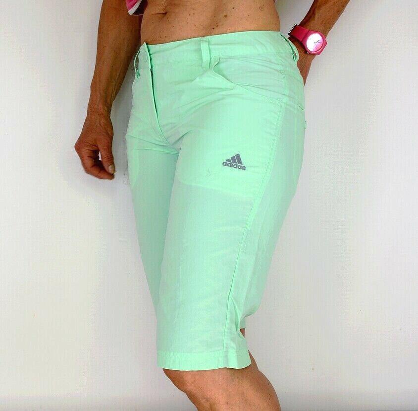 Adidas Damen Short Outdoor Hose Wanderhose Chino Capri Bermuda türkis grün mint